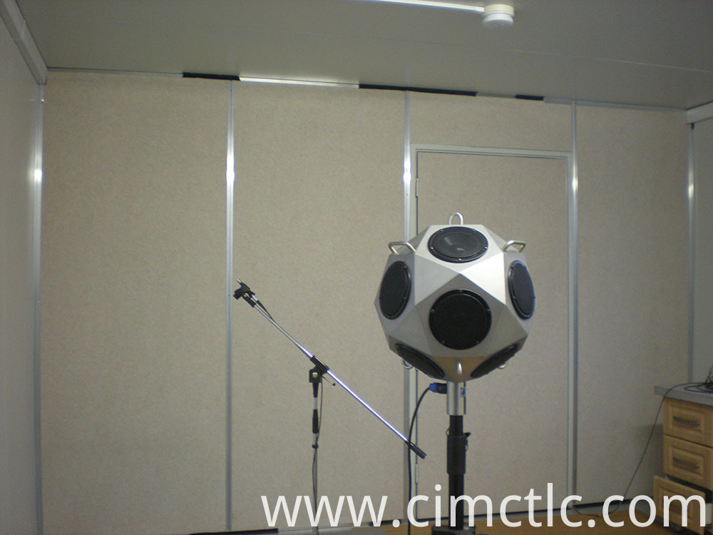 Acoustic test for Low Noise Container Integrated Type