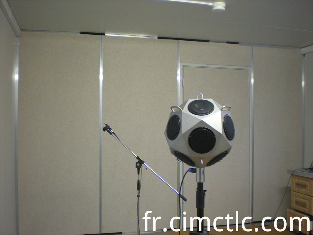 Acoustic test for ISO Standard Generator Container