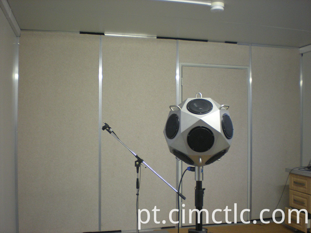 Acoustic test for Modular Gym Room Container Type