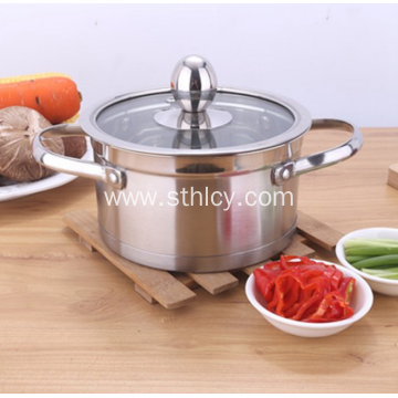 Thickened Stainless Steel Non-magnetic Right Angle Soup Pot