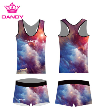 Sublimaasje Ofdrukken Fancy Spark Cheerleading Outfits