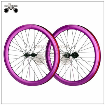 700C 40mm fix double-walled aluminum wheelset