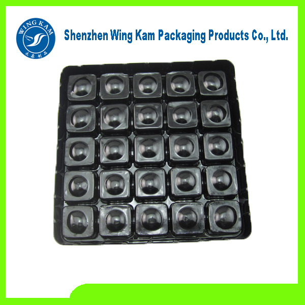 PET Brown Plastic Competitive Price Chocolate Tray