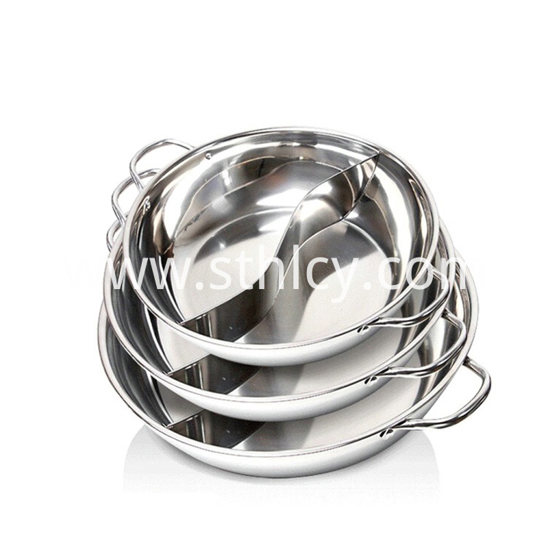 Wholesale Stainless Steel Two Taste Hotpot
