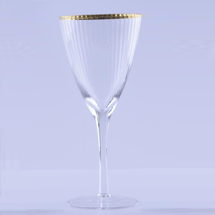 gold Rim Champagne Glasses