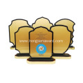 Stock Souvenir Wooden award plaque frame trophy