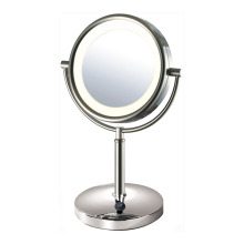 Double side magnifying mirror with lights
