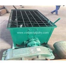 Best Quality for Chicken Manure Fertilizer Processing Line Manure double shaft mixer export to Israel Manufacturer