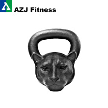 26 LB Panther Animal Face Kettlebell