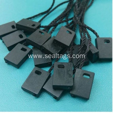 Black no logo tag fastener for apparel