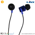 Cheap promotion stereo wired in ear metal earphone