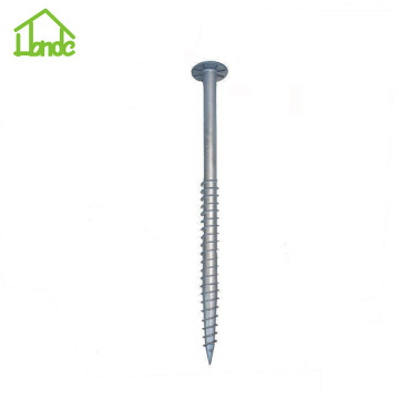 Heavy duty earth screw anchors with high service