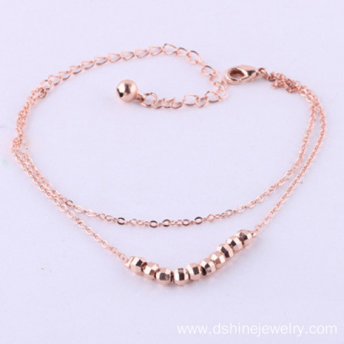 Street Fashion Personality Full Hand-made Bead Bracelet Anklet Ladies