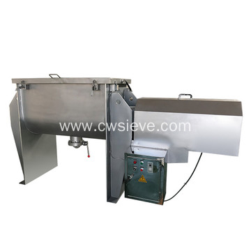 Granular horizontal ribbon blender powder mixer