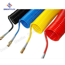 China for PU Spiral Air Hose 10mm Flexible PU Sprial Tube Air Coiled Hose export to Germany Factory