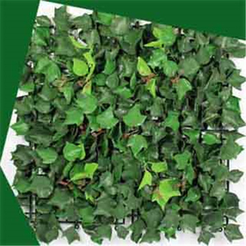Decorative artificial ivy leave hedge
