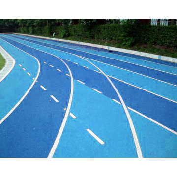 Breathable plastic track construction
