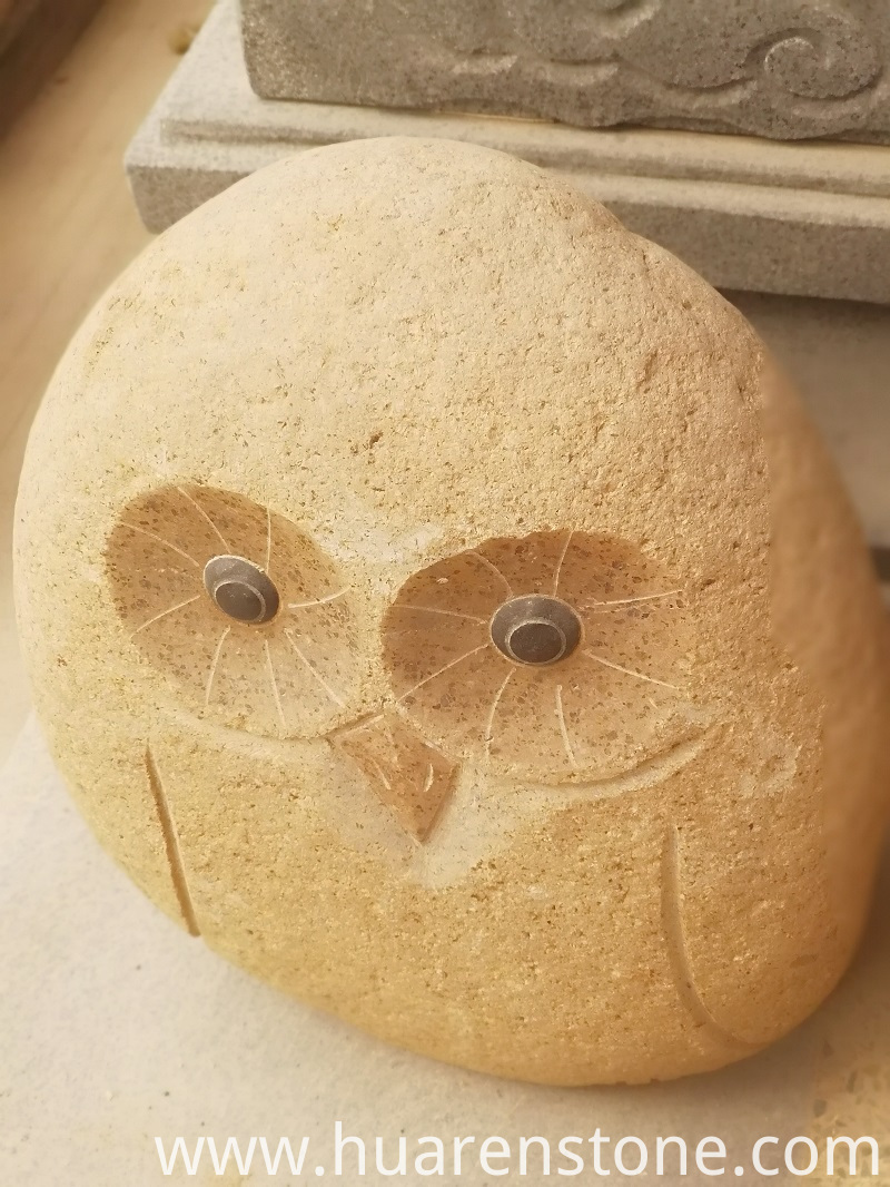 Carved Owl Rocks