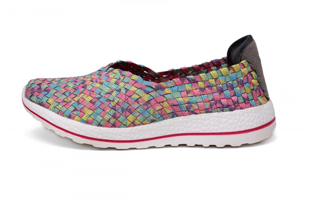 Multi Colors Woven Slip-ons