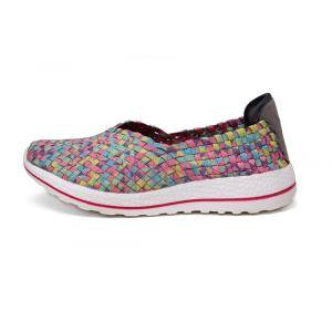 Summer Multi Colors Women Woven Flat Slip-ons