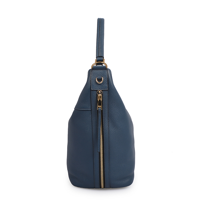 Genuine Leather Handle Large Tote Bags Felt Handbag for Woman