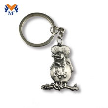 Purchasing for Customized Keyring Antique silver metal custom 3d cute keychain supply to Cote D'Ivoire Suppliers