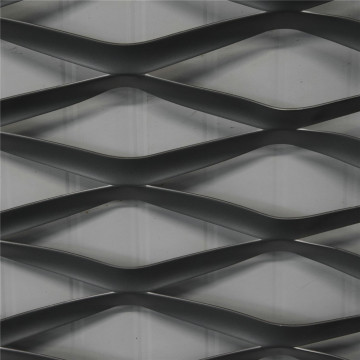 Galvanized expanded metal for steel grating