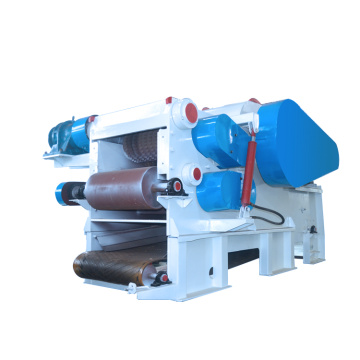 Electric motor drum wood chipper