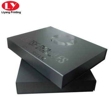 High quality black folding apparel box