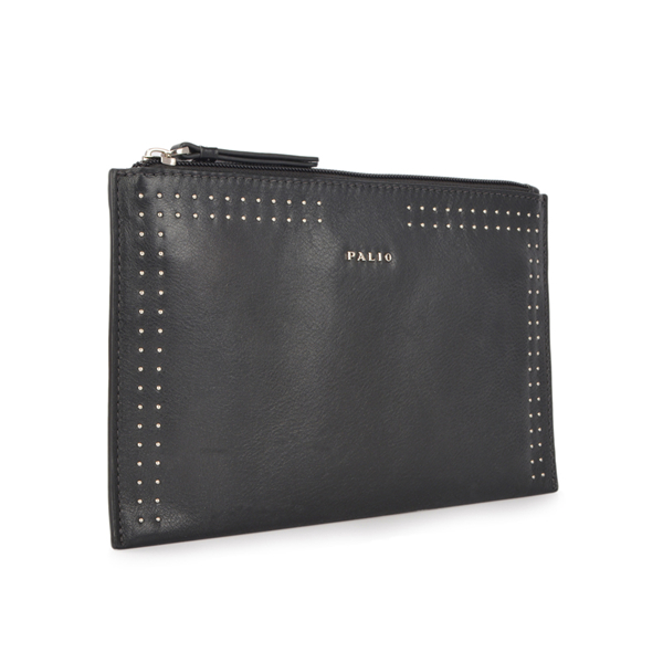 Personalized fashion soft leather evening clutch