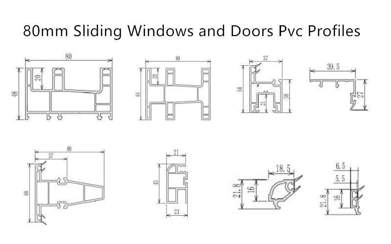 80mm sliding pvc profiles  cheap price