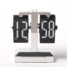 Professional for Desk Clock Flip Flip Clock Silver Case with Decorative Light export to Uruguay Supplier