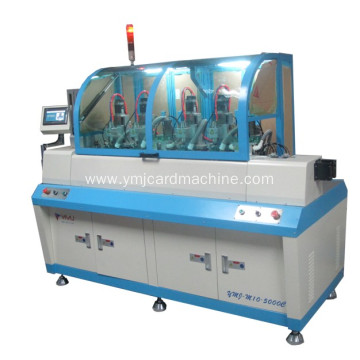 Four Heads Full Auto Smart Card Milling Machine