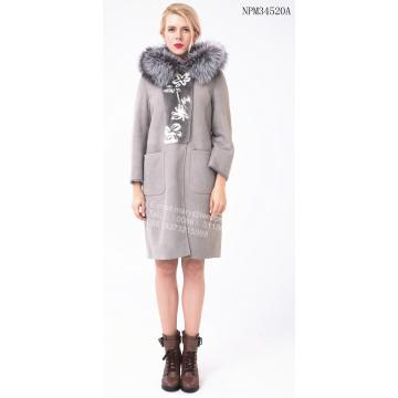 Hooded Spain Merino Shearling Coat
