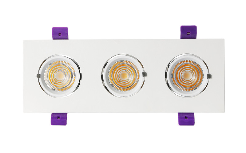 led trunk downlight with three lamp