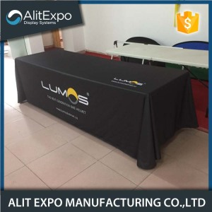 Trade show table throw covers with logo