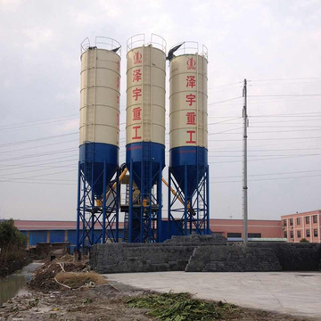 Ready mix stationary small concrete batching plant HZS90