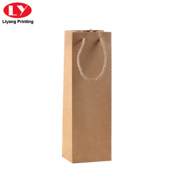 Bolsas de regalo de papel Kraft Brown para viño