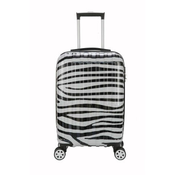 Compartment abs pc Zebra suitcase