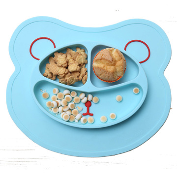 animal shape design baby food eating dinner mat