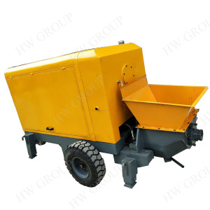 Trailer mounted large-scale concrete transfer pump