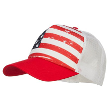 USA flag mesh back sun snapback baseball cap