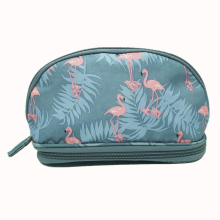 Travel Printed Linen Cosmetic Bag Beauty Case