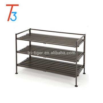 China Factory customize new fasion 4-tier metal folding shoe rack designs