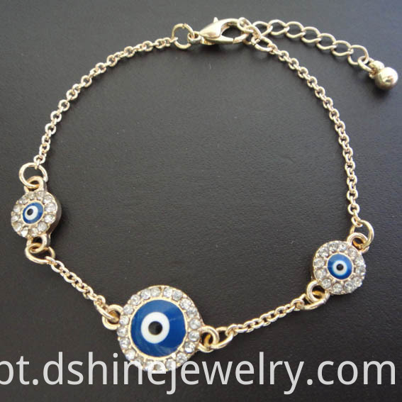 Fancy Chain Evil Eye Bracelet