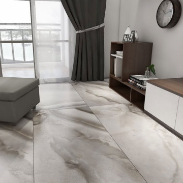 Cheap polished marble effect brown tiles