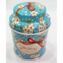 OEM manufacturer custom for Metal Tea Tin Can Blue Mushroom Tea Tin Box export to Russian Federation Factories