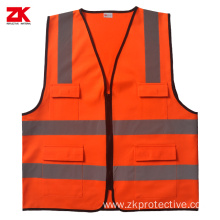 Cheap multi-pockets reflective vest