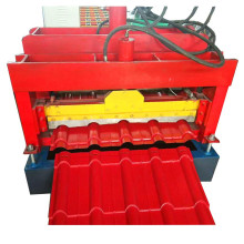 Glazed Color Roof Tile Steel Roll Forming Machine