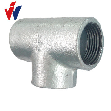 BS standard malleable iron galvanized fittings with plain